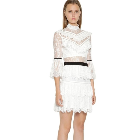 b23a330a3fe7e Self-Portrait Dresses | Self Portrait White Lace Dress | Poshmark